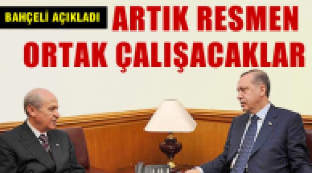 AKP ve MHP resmen ortak çalışacaklar