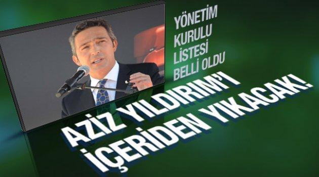 Ali Koç Fenerbahçe yönetimine kimleri alıyor?
