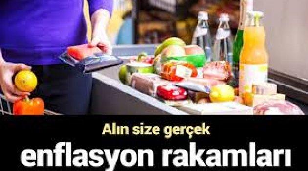 Alın size gerçek enflasyon rakamları