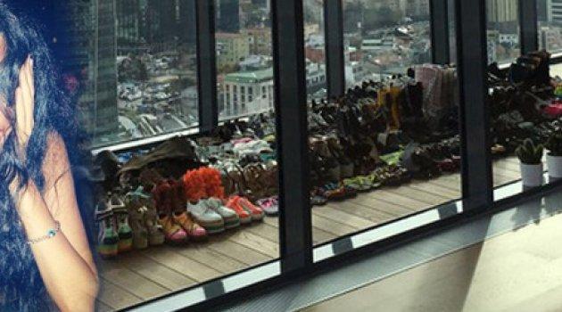 Asena 'ın yeni evine 600 ayakkabısı sıgdı