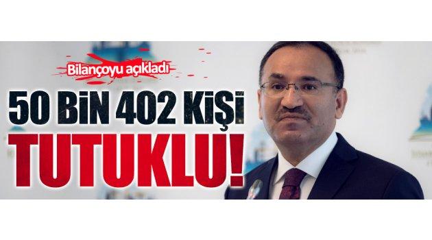 FETÖ davalarında 50 bin 402 kişi tutuklu