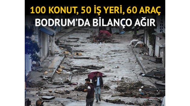 Bodrum'da bilanço ağır!100 konut, 50 iş yeri, 60 araç..