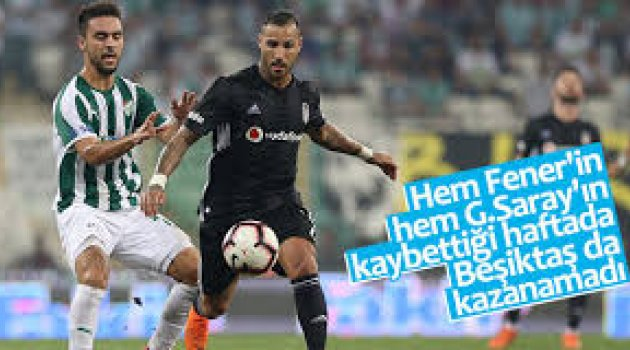 Bursaspor ile Beşiktaş berabere kaldı: 1-1