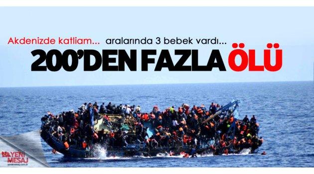 Büyük facia... Libya'da 200 sığınmacı öldü