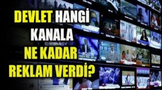 Devlet hangi kanala ne kadar reklam verdi?