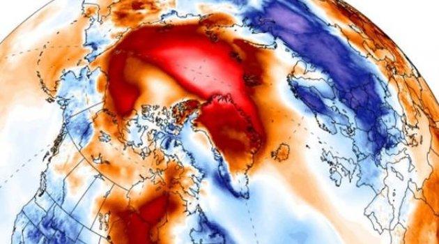 Dünya tepetaklak oldu, Kuzey Kutbu 30 derece daha sıcak