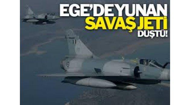 Ege'de Yunan jeti düştü, TSK'dan açıklama geldi