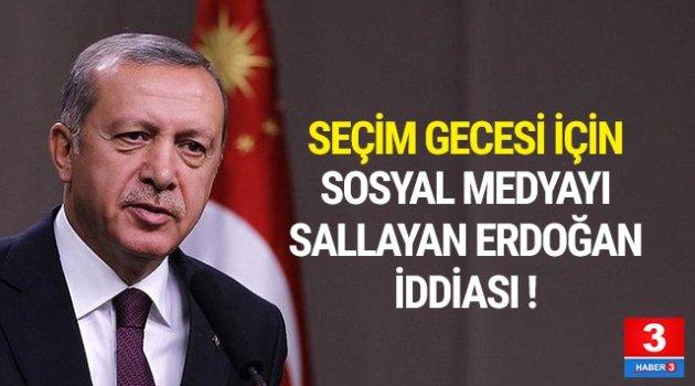 Erdoğan iddiası sosyal medyayı salladı !