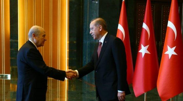 Erdoğan'dan Bahçeli'ye: MHP ile her türlü adımı atmaya varız