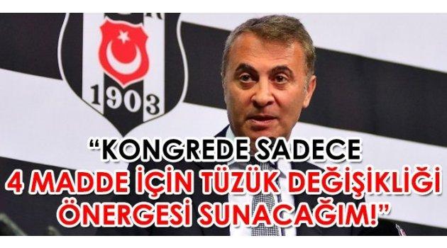 """Fikret Orman: """"Beşiktaş'ta büyük bir tüzük tadili yapacağım"""""""