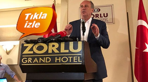 İnce'nin mitinginde Erdoğan yanlılarından provokasyon