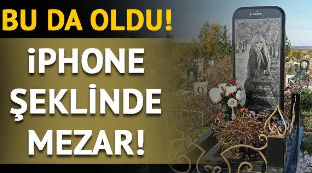 Rusya'da iPhone şeklinde mezar taşı yapıldı 8