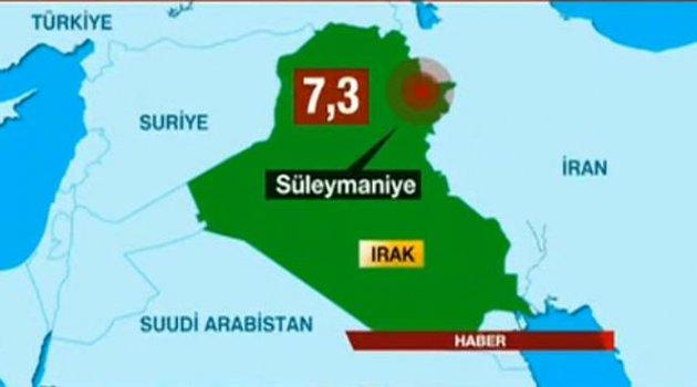 Irak'ta 7.3 büyüklüğünde korkutan deprem