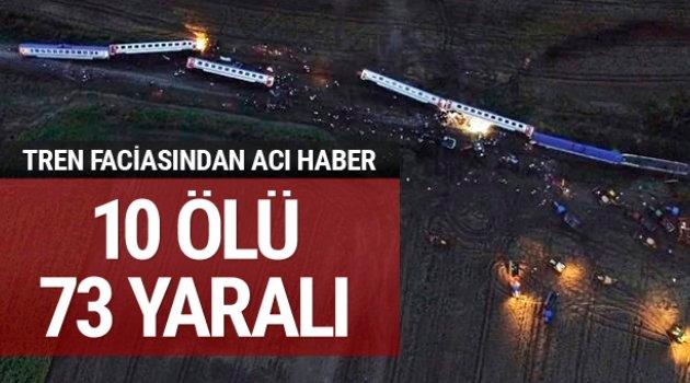Tekirdağ'da tren faciası: 24 ölü, 318 yaralı