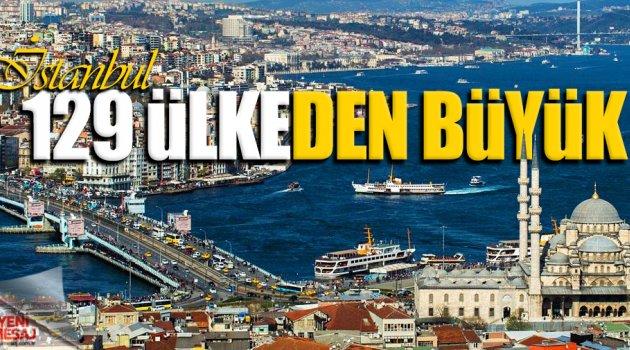 İstanbul'un nüfusu 129 ülkeyi geçti