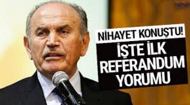 Kadir Topbaş'tan referandum yorumu: Hassas mesajlar var