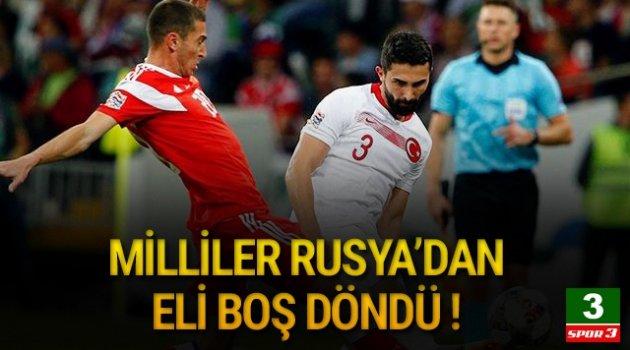 A Milli Takımımız Rusya'ya 2-0 mağlup oldu
