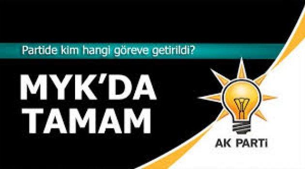 AK Parti'de MYK belli oldu: Kim hangi göreve geldi?