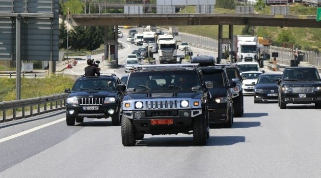 Çerkes Cengiz 100 araçlık konvoyla cezaevine gitti