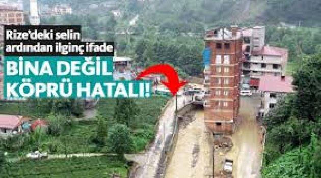 Dere yatağındaki kaçak binanın sahibinden ilginç çıkış: Köprü yanlış yerde