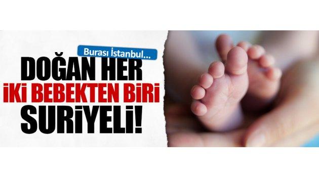 Doğan her 2 bebekten biri Suriyeli