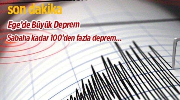 Ege de Deprem  Ülkenin Batısında hissedildi