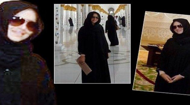 Hadise çarşaf giydi camide fotoğraf çektirip paylaştı