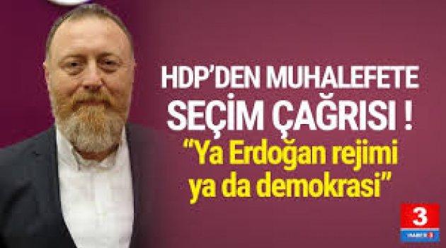 HDP'den muhalefete seçim teklifi!