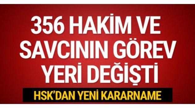 HSK'dan 356 kişilik yeni kararname