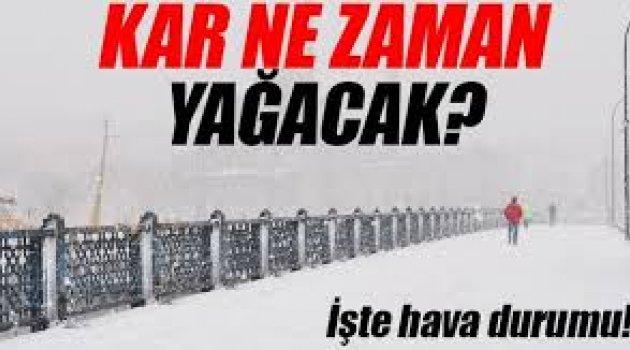 İstanbul'da hangi gün kar yağacak? Meteoroloji tarih verdi