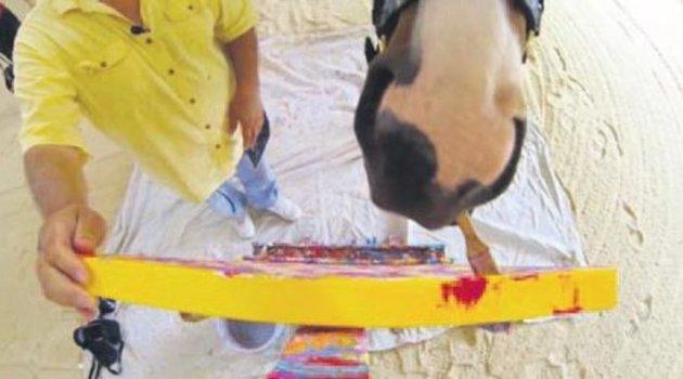 Resim yaparak kendi hayatını kurtaran at