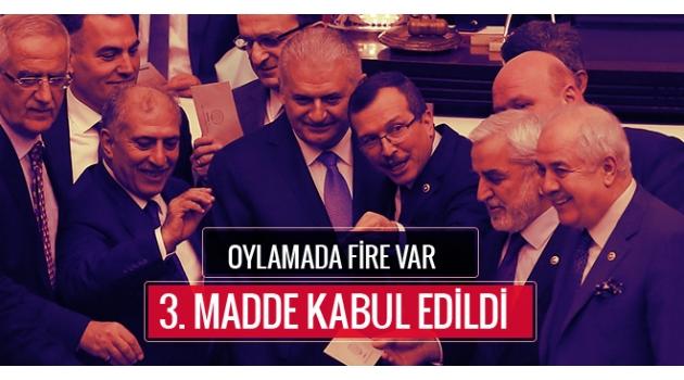 Yeni anayasanın 3. maddesi kabul edildi!