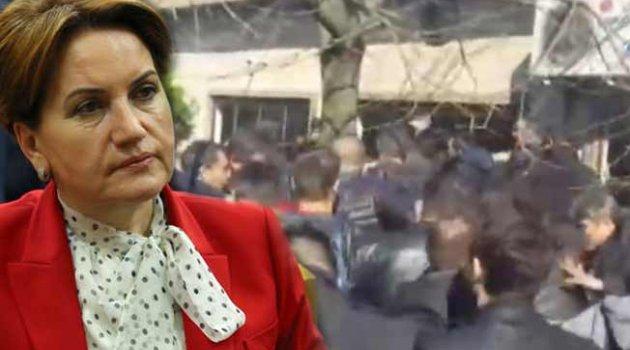 Meral Akşener'in toplantısında kavga çıktı!