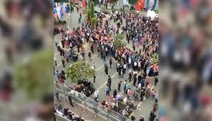 Mersin mitinginde Erdoğan konuşurken kalabalıklar alanı terk etti