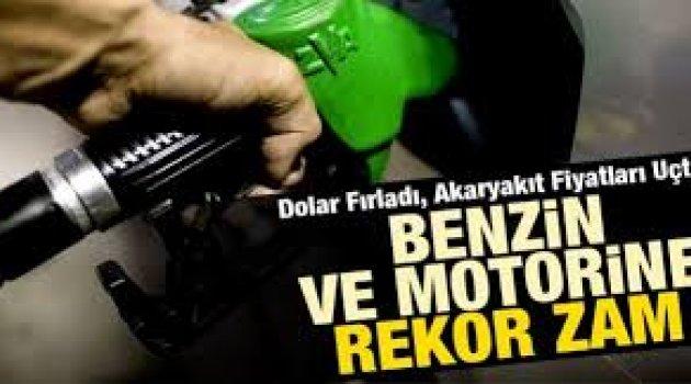 Motorine ve benzine rekor zam!