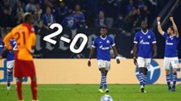 Schalke-Galatasaray maç sonucu: 2-0
