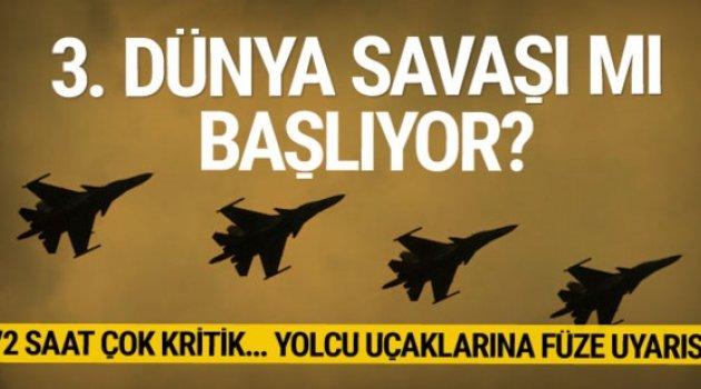 Sivil yolcu uçakları, Suriye üzerinden uçmamaları için uyarıldı...