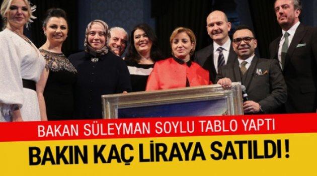 Süleyman Soylu'nun yaptığı resim 500 bin liraya satıldı