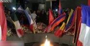 Ermenistan'daki törende Türk bayrağı yakıldı
