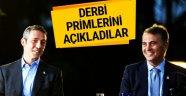 Başkanlar Fenerbahçe Beşiktaş derbisinin primlerini açıkladı