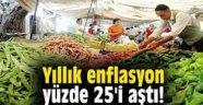 Enflasyon yüzde 25'i geçti