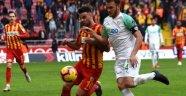 Kayserispor ile Bursaspor 1-1 berabere kaldı
