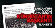 Barzani'nin kanalı Diyarbakır'ı Kürdistan'ın başkenti ilan etti