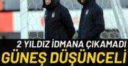 Beşiktaş'ta 2 yıldız antrenmana çıkamadı! Fenerbahçe maçı öncesi kötü haber