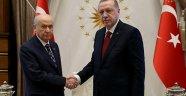 Cumhurbaşkanı Erdoğan ile Devlet Bahçeli'nin görüşmesi sona erdi