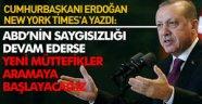 Erdoğan, The New York Times'a yazdı: Artık zamanı geldi