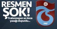Trabzonspor'dan flaş açıklama! Transfer yasağı...