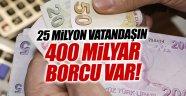 Türk vatandaşı borç batağında