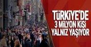 Türkiye'de 3 Milyon Kişi 'Yalnız'