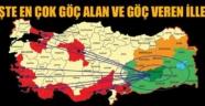 Türkiye'nin 'Göç Haritası' açıklandı